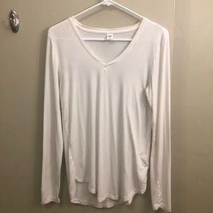 Old Navy White Long-sleeve V-neck